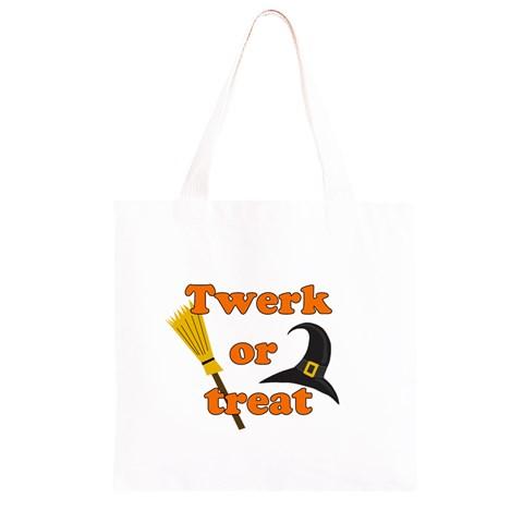 Twerk or treat - Funny Halloween design Grocery Light Tote Bag