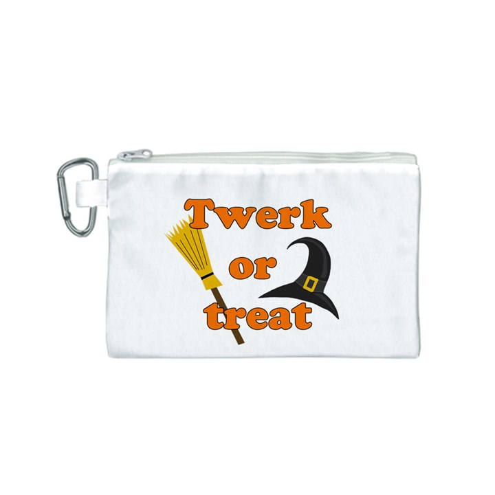 Twerk or treat - Funny Halloween design Canvas Cosmetic Bag (S)