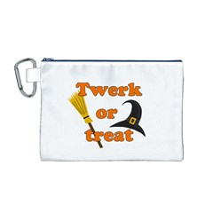 Twerk Or Treat   Funny Halloween Design Canvas Cosmetic Bag (m)