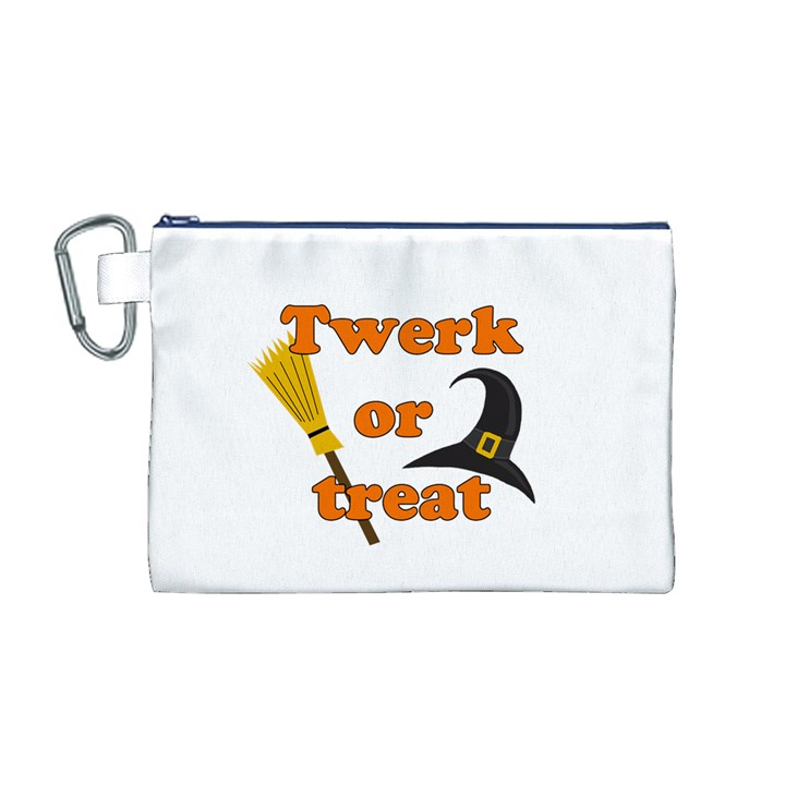 Twerk or treat - Funny Halloween design Canvas Cosmetic Bag (M)