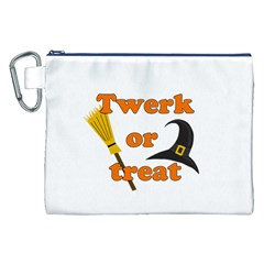 Twerk or treat - Funny Halloween design Canvas Cosmetic Bag (XXL)