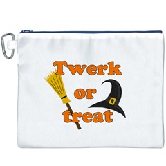 Twerk Or Treat   Funny Halloween Design Canvas Cosmetic Bag (xxxl)