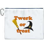 Twerk or treat - Funny Halloween design Canvas Cosmetic Bag (XXXL) Front