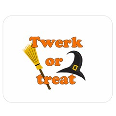Twerk or treat - Funny Halloween design Double Sided Flano Blanket (Medium)
