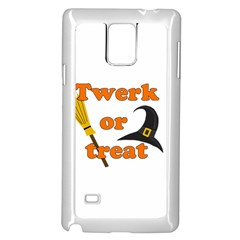 Twerk Or Treat   Funny Halloween Design Samsung Galaxy Note 4 Case (white)