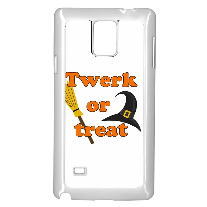 Twerk or treat - Funny Halloween design Samsung Galaxy Note 4 Case (White)