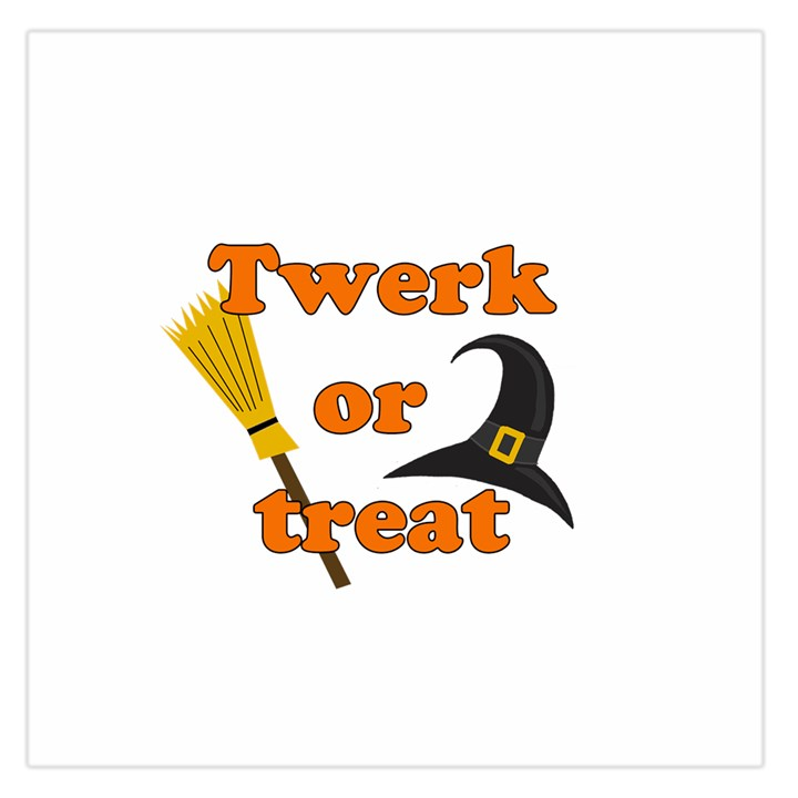 Twerk or treat - Funny Halloween design Large Satin Scarf (Square)