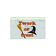 Twerk Or Treat   Funny Halloween Design Cosmetic Bag (xs)