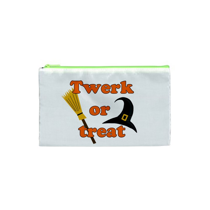 Twerk or treat - Funny Halloween design Cosmetic Bag (XS)