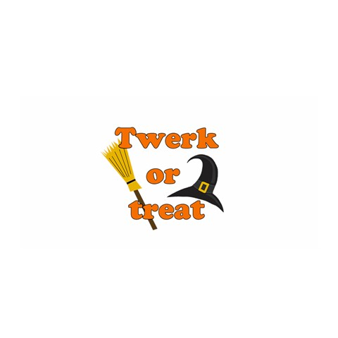 Twerk or treat - Funny Halloween design Satin Wrap