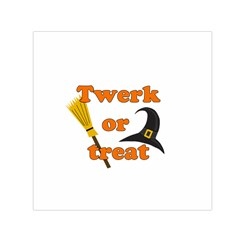 Twerk Or Treat   Funny Halloween Design Small Satin Scarf (square)