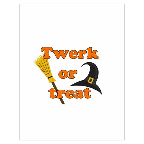 Twerk or treat - Funny Halloween design Drawstring Bag (Large)