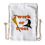 Twerk or treat - Funny Halloween design Drawstring Bag (Large) Front