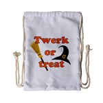 Twerk or treat - Funny Halloween design Drawstring Bag (Small) Front