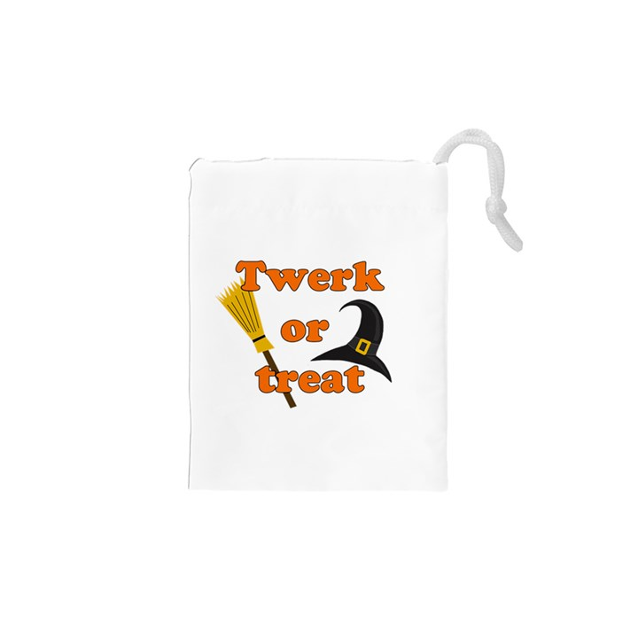 Twerk or treat - Funny Halloween design Drawstring Pouches (XS)