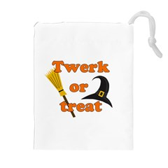 Twerk or treat - Funny Halloween design Drawstring Pouches (Extra Large)