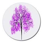 Purple Tree Round Mousepads Front