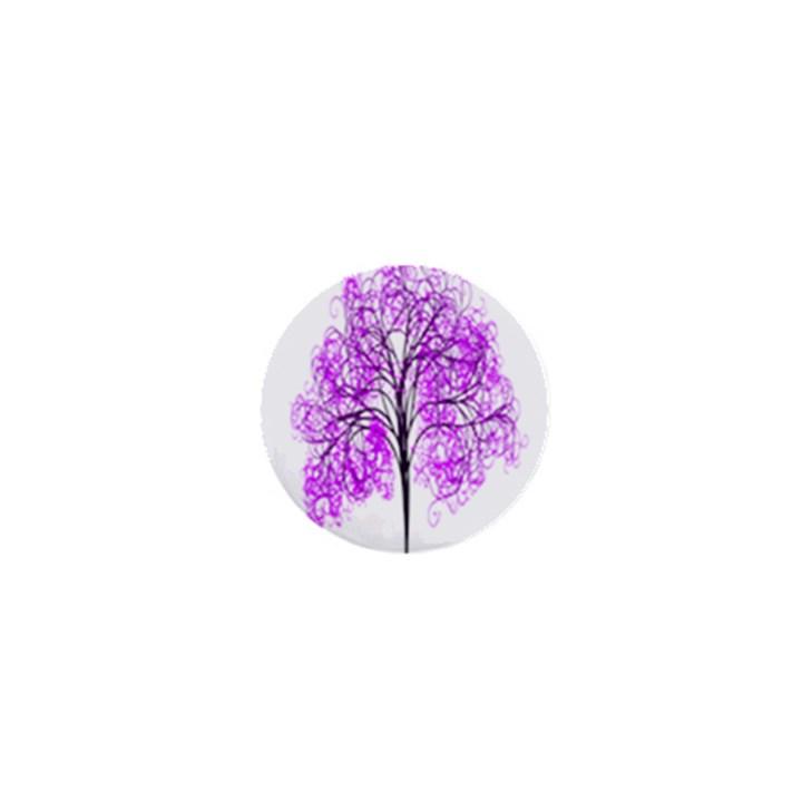 Purple Tree 1  Mini Magnets