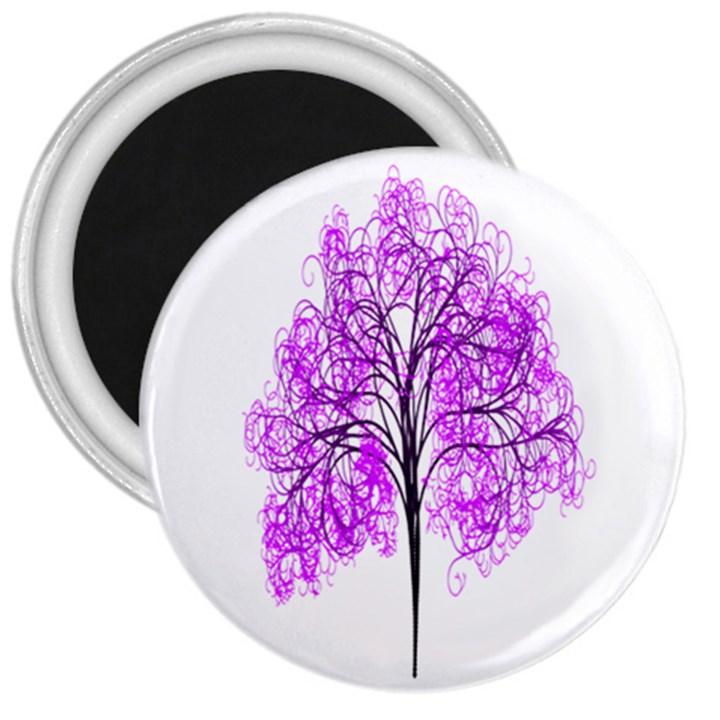 Purple Tree 3  Magnets