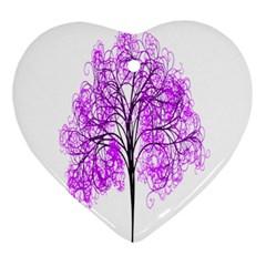 Purple Tree Ornament (Heart)