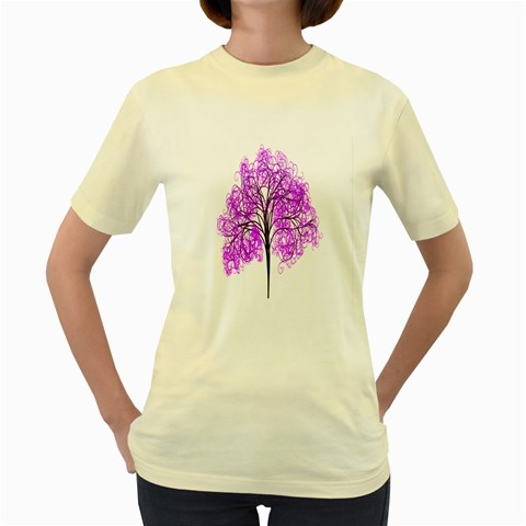 Purple Tree Women s Yellow T-Shirt