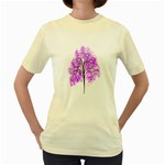 Purple Tree Women s Yellow T-Shirt Front