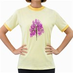 Purple Tree Women s Fitted Ringer T-Shirts Front