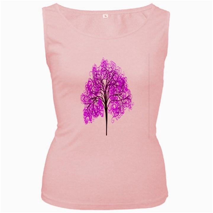 Purple Tree Women s Pink Tank Top