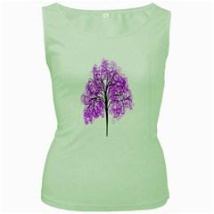 Purple Tree Women s Green Tank Top