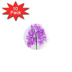 Purple Tree 1  Mini Magnet (10 pack)