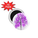 Purple Tree 1.75  Magnets (10 pack)  Front