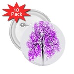 Purple Tree 2.25  Buttons (10 pack)  Front