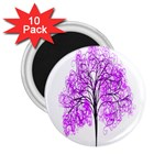Purple Tree 2.25  Magnets (10 pack)  Front