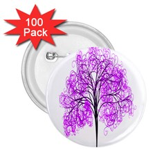 Purple Tree 2.25  Buttons (100 pack)
