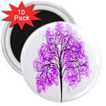 Purple Tree 3  Magnets (10 pack)  Front