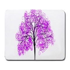 Purple Tree Large Mousepads