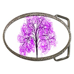 Purple Tree Belt Buckles
