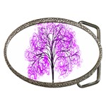 Purple Tree Belt Buckles Front
