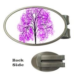 Purple Tree Money Clips (Oval)