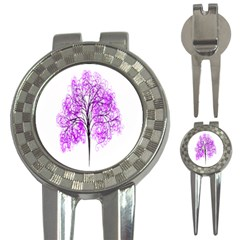 Purple Tree 3-in-1 Golf Divots