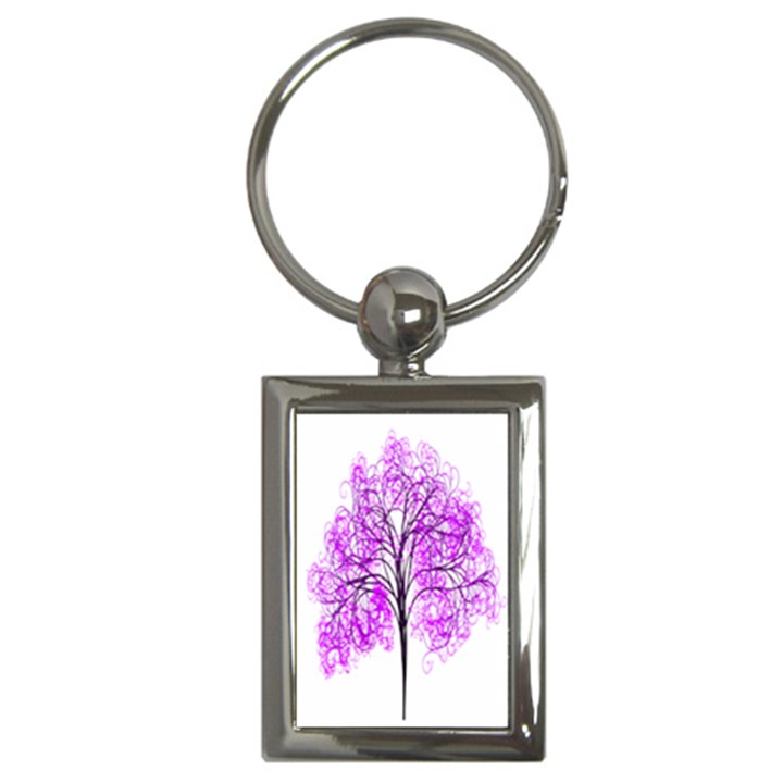Purple Tree Key Chains (Rectangle)