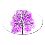 Purple Tree Oval Magnet Front