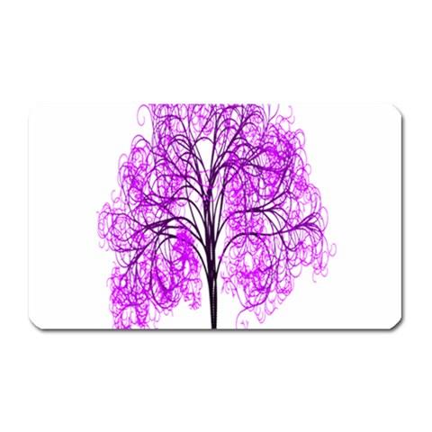 Purple Tree Magnet (Rectangular)