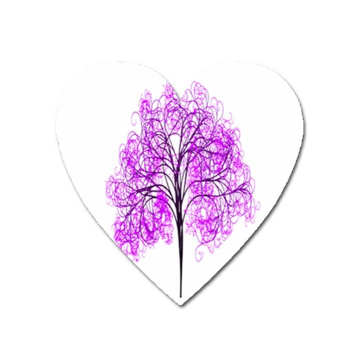 Purple Tree Heart Magnet