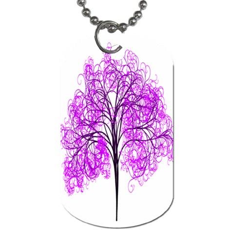 Purple Tree Dog Tag (One Side)