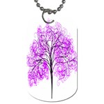 Purple Tree Dog Tag (One Side) Front