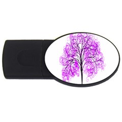 Purple Tree USB Flash Drive Oval (2 GB)