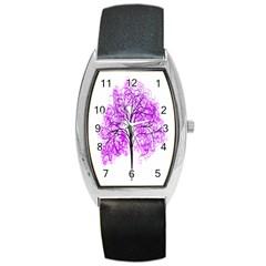 Purple Tree Barrel Style Metal Watch