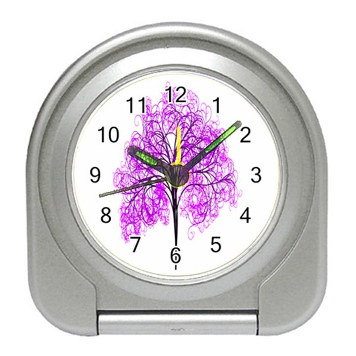 Purple Tree Travel Alarm Clocks