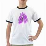Purple Tree Ringer T-Shirts Front